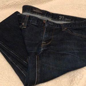 J Crew Matchstick frayed bottom jeans